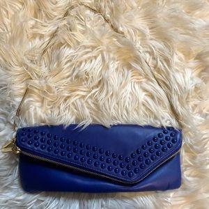 Henri Bendel cobalt blue clutch
